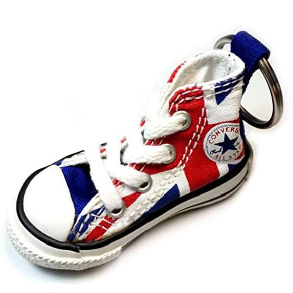 Converse All Star Hi Top Shoe Keychain UK Flag NWT